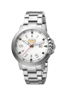 Just Cavalli 42mm Men's Rock Bracelet Watch  Steel