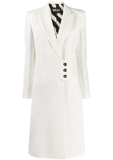 Just Cavalli A-line button coat