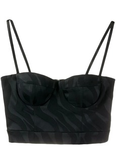 Just Cavalli abstract-pattern bustier top