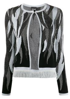 Just Cavalli abstract pattern cardigan