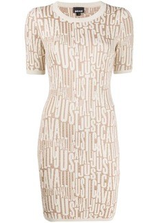 Just Cavalli all-over logo knit dress