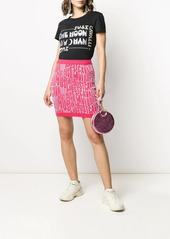 Just Cavalli all over logo skirt