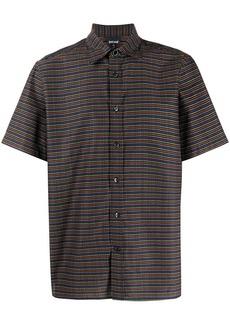 Just Cavalli all-over logo stripe-effect shirt