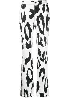 Just Cavalli animal-print bootcut jeans