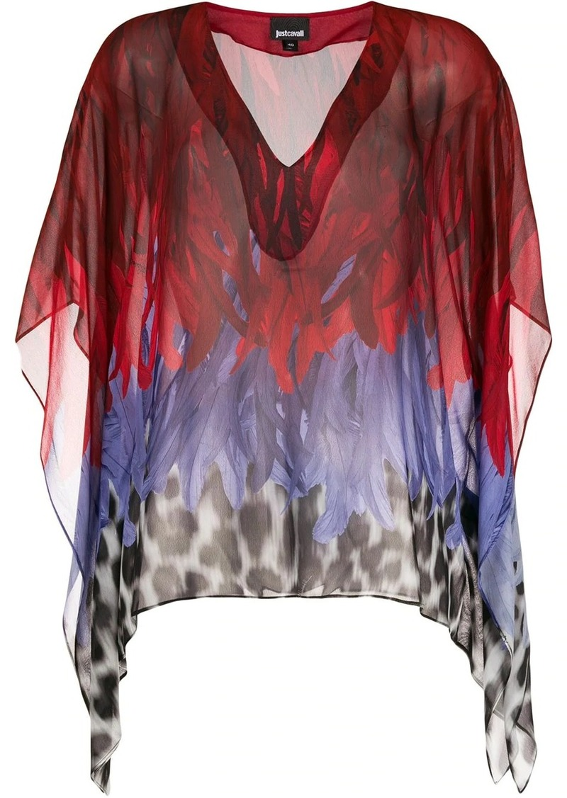 Just Cavalli animal-print chiffon top