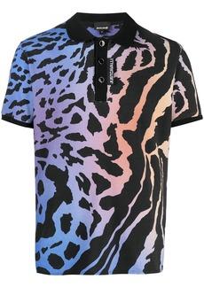 Just Cavalli animal print polo shirt