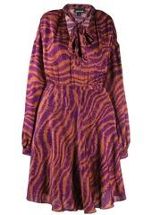 Just Cavalli animal print pussy bow dress