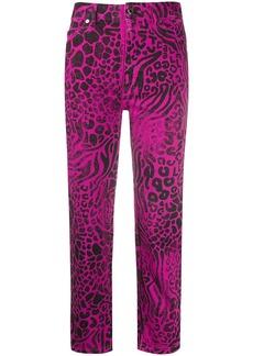 Just Cavalli animal print trousers