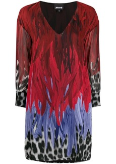 Just Cavalli animal-print V-neck shift dress