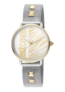 Just Cavalli Animal Watch w/ Mesh Strap  Two-Tone