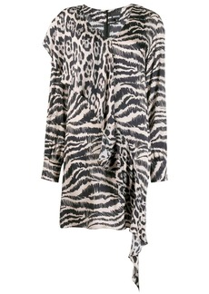 Just Cavalli asymmetric animal print dress