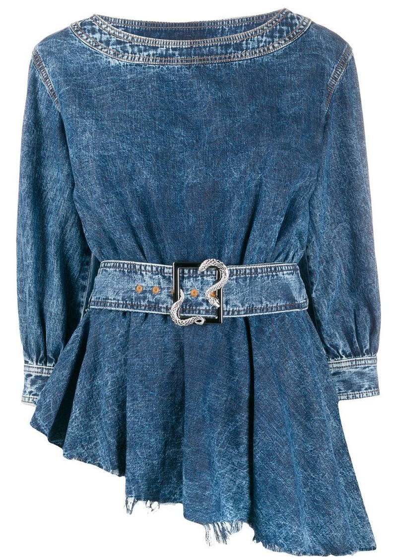 Just Cavalli asymmetric denim top