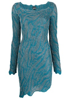 Just Cavalli asymmetric fitted knit dress