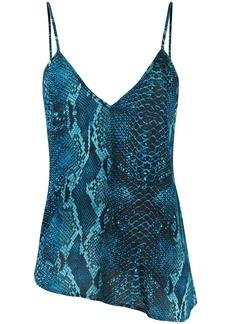 Just Cavalli asymmetric snake print vest