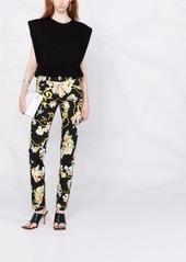 Just Cavalli baroque-print slim-cut jeans