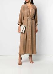Just Cavalli belted glitter maxi dress