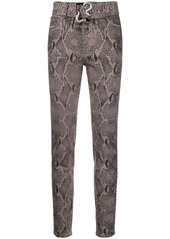 Just Cavalli belted high-rise skinny jeans