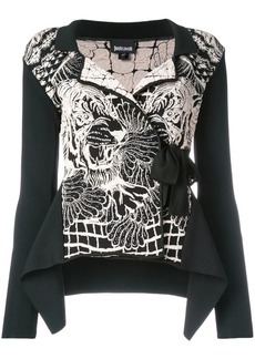 Just Cavalli belted knit jacket