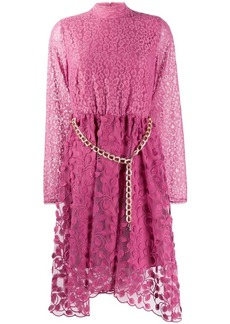 Just Cavalli belted midi dress