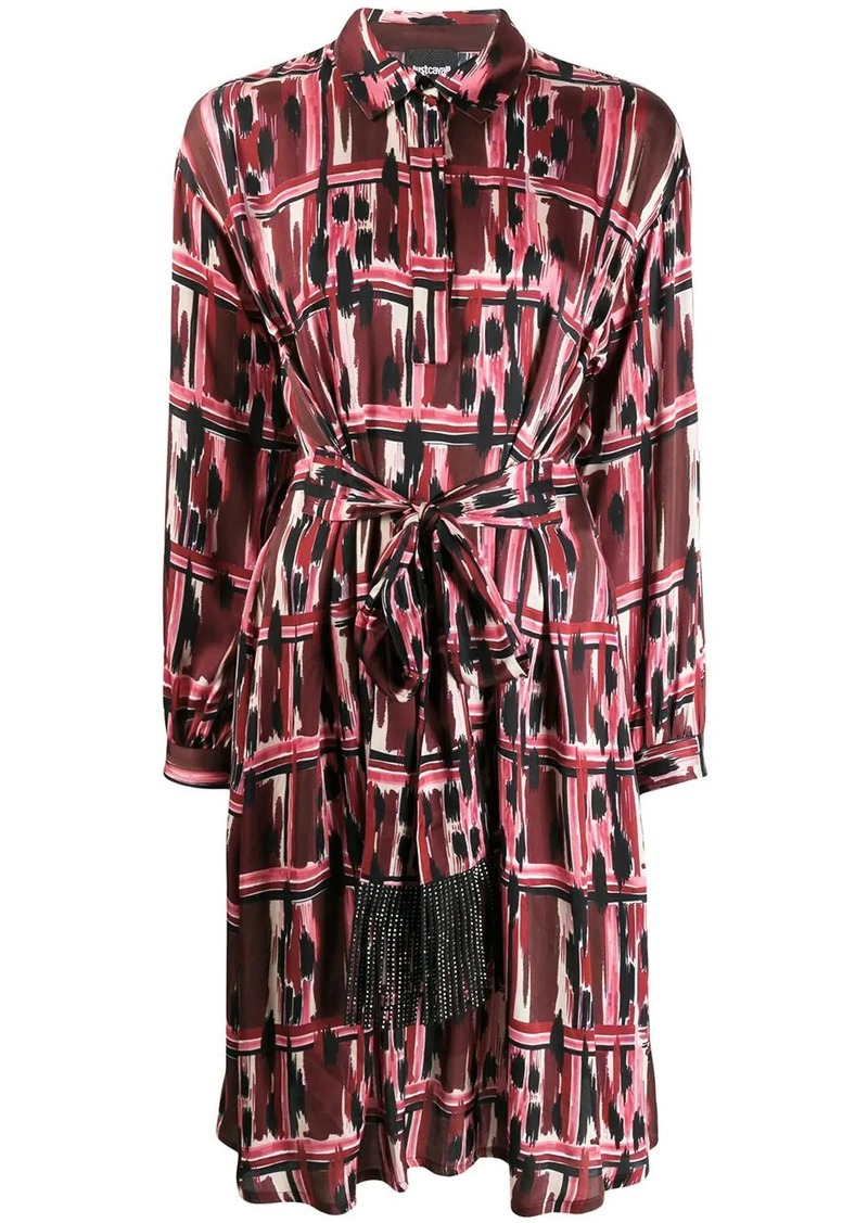 Just Cavalli belted shirt dress