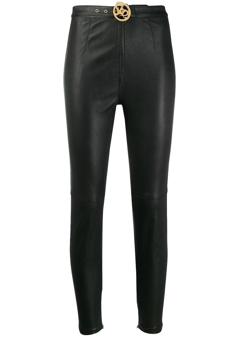 Just Cavalli belted skinny trousers