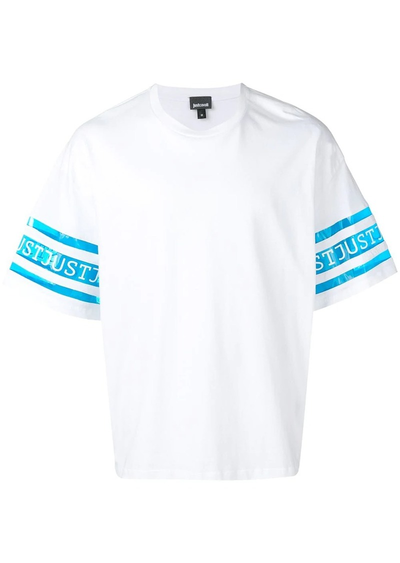 Just Cavalli branded panel T-shirt