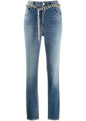 Just Cavalli chain belt straight leg jeans