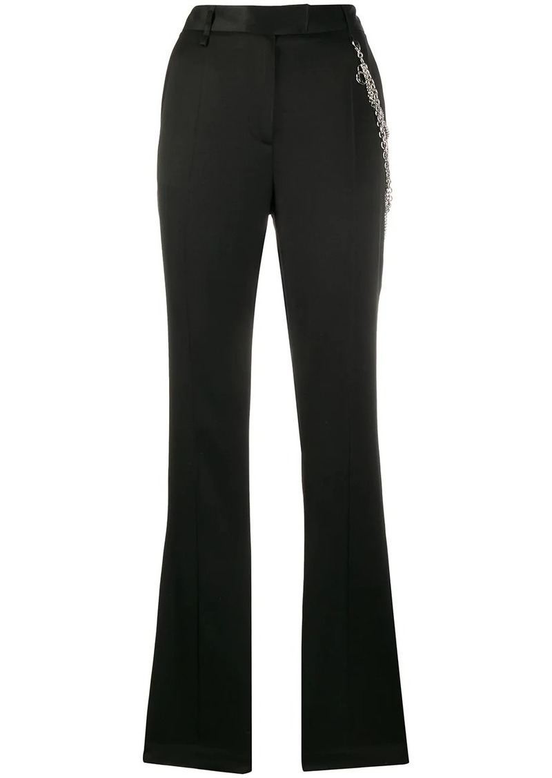 Just Cavalli chain-detail tailored trousers