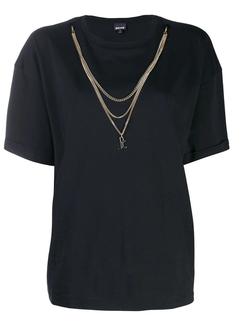 Just Cavalli chain embellished T-shirt