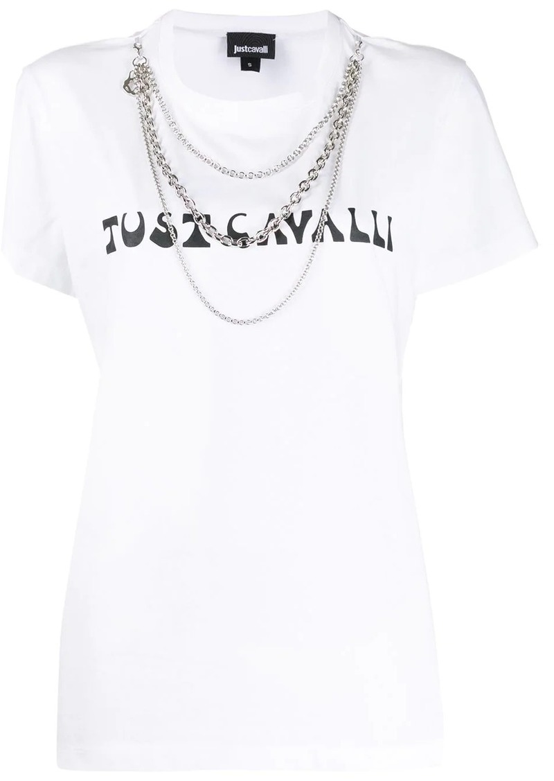 Just Cavalli chains logo T-shirt