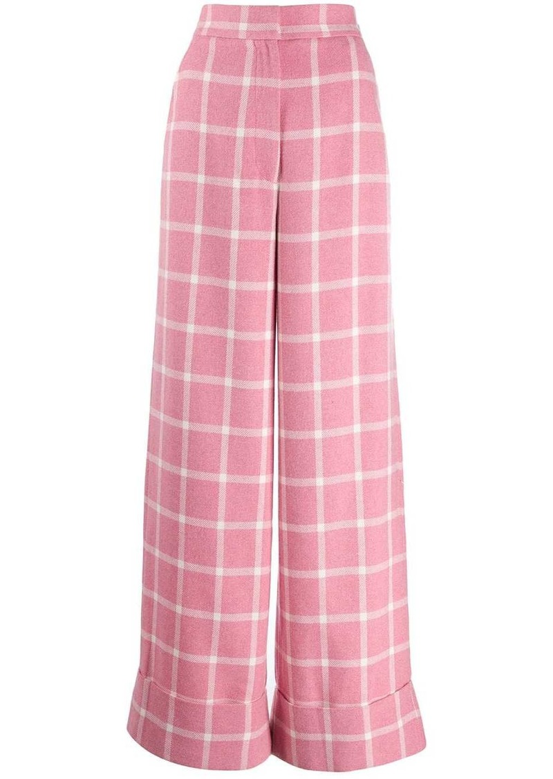 Just Cavalli checked print palazzo pants