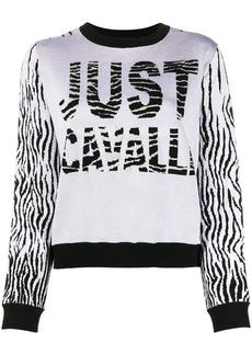 Just Cavalli color-block intarsia knit jumper
