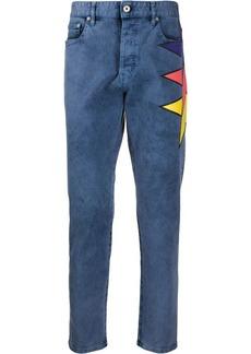 Just Cavalli colour-block print jeans