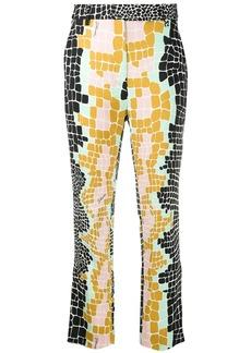 Just Cavalli colour-block tailored trousers