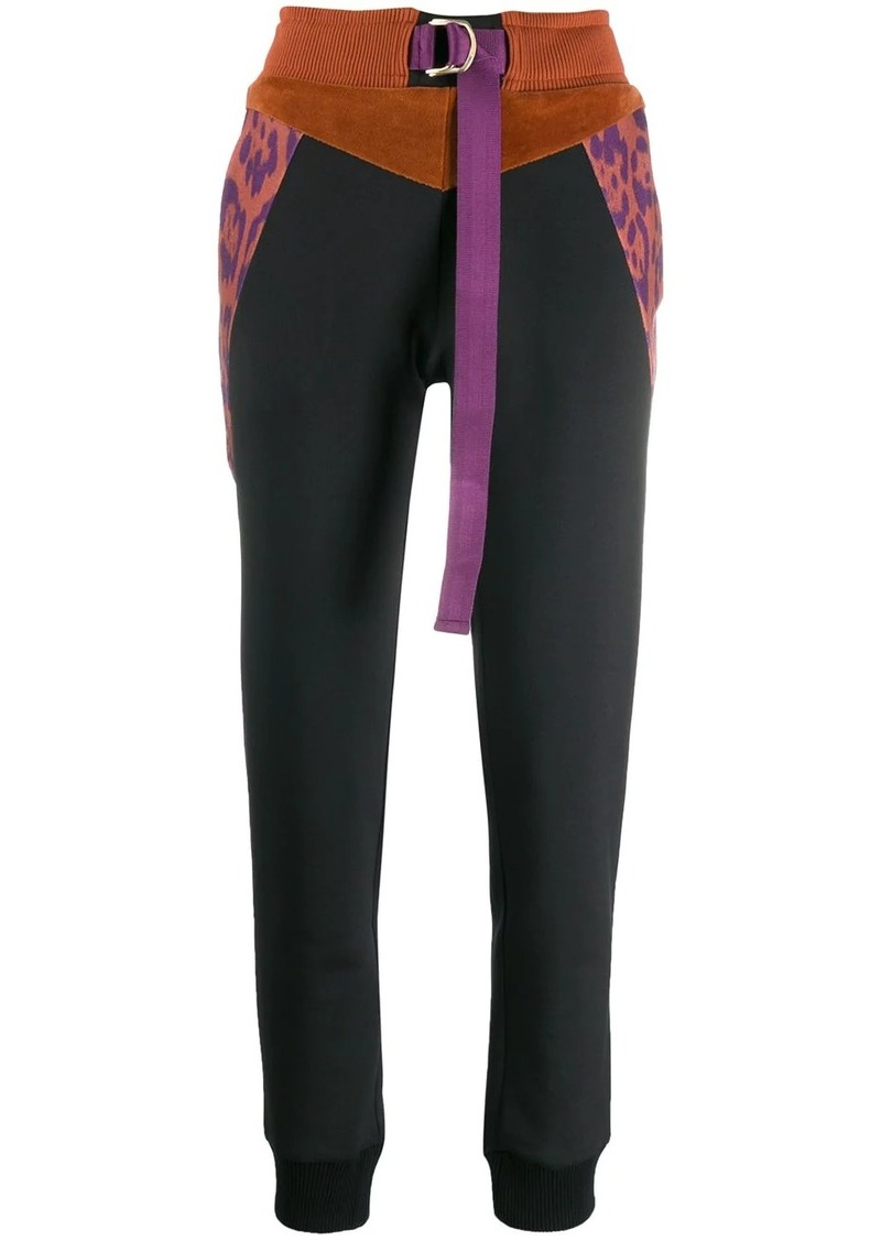 Just Cavalli colour block track trousers