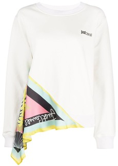Just Cavalli contrast long-sleeve top