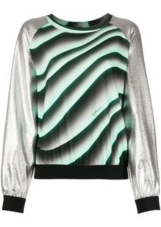 Just Cavalli contrast-panel knit jumper