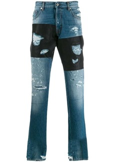 Just Cavalli contrast panels jeans
