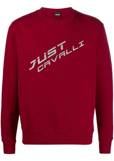 Just Cavalli crew neck logo printed sweatshirt