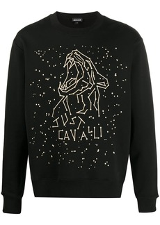 Just Cavalli crew neck star sign print jumper