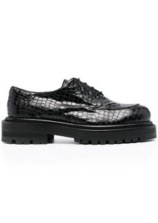 Just Cavalli crocodile-effect derby shoes