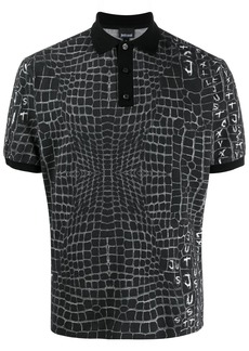 Just Cavalli crocodile print polo shirt