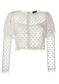 Just Cavalli cropped lace top