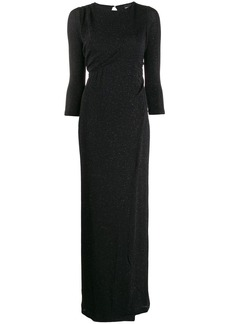 Just Cavalli cropped sleeve long dress