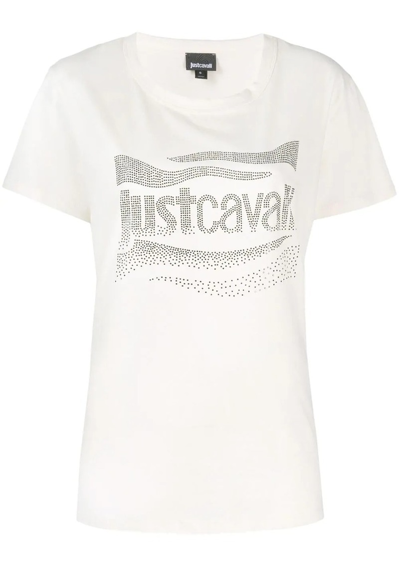 Just Cavalli embellished logo T-shirt