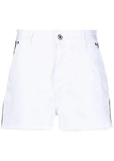 Just Cavalli denim logo trim shorts