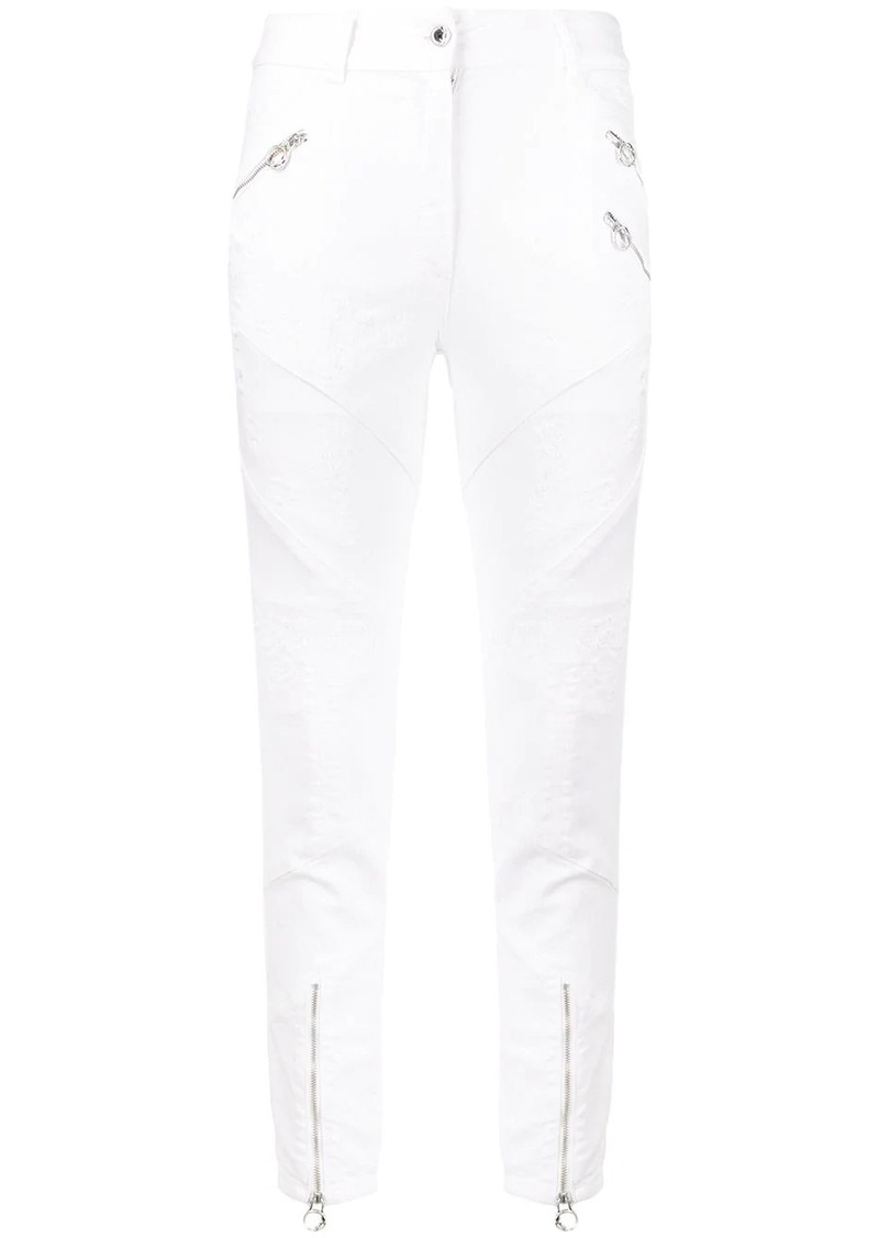 Just Cavalli distressed high-rise skinny jeans