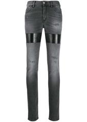 Just Cavalli distressed patchwork jeans