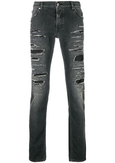 Just Cavalli distressed ripped jeans