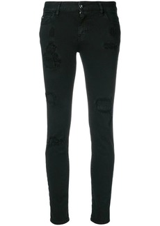 Just Cavalli distressed skinny jeans
